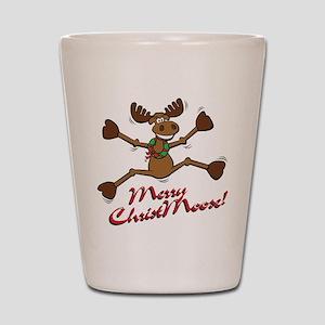 Merry Christmoose [jumping] Shot Glass